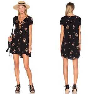 Amuse Society | Ludlow Floral Dress Black Sands